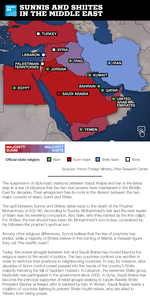 Interactive map: Sunni and Shiite influence in the Middle ...